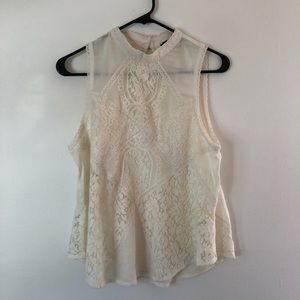 American Eagle Lacey Ivory Top Size M